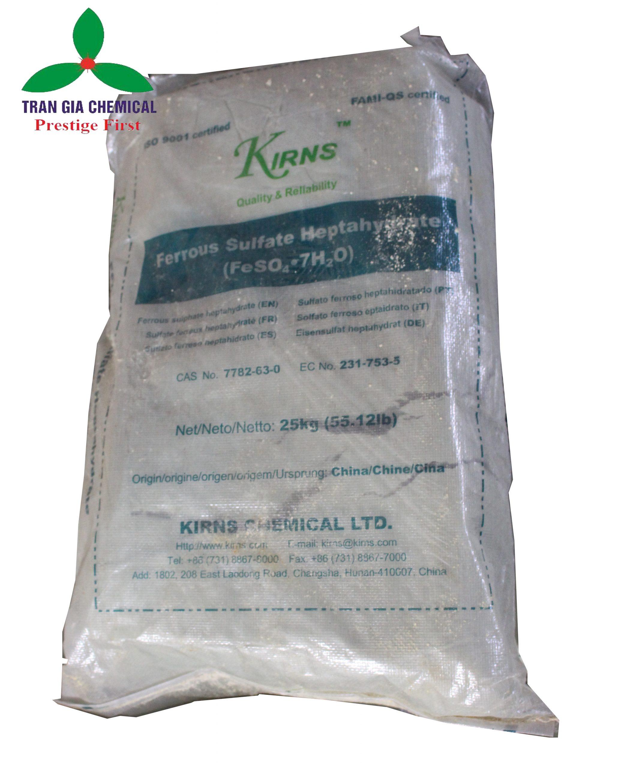 Hóa chất Bán FeSO4.7H2O – Sắt II Sunfat
