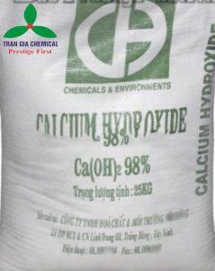 Vôi bột công nghiệp Ca(OH)2 98%   Canxi Hydroxit 98%